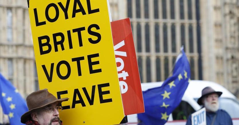Manifestanti per il Leave